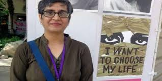 Sabeen with poster